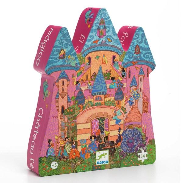 boite du Puzzle Château de princesse 54 pièces en forme de château