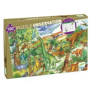 Puzzle dinosaures 100 pièces avec livret