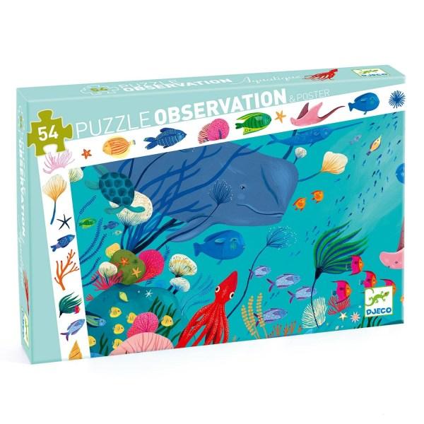 boite du Puzzle observation Mer 54 pièces