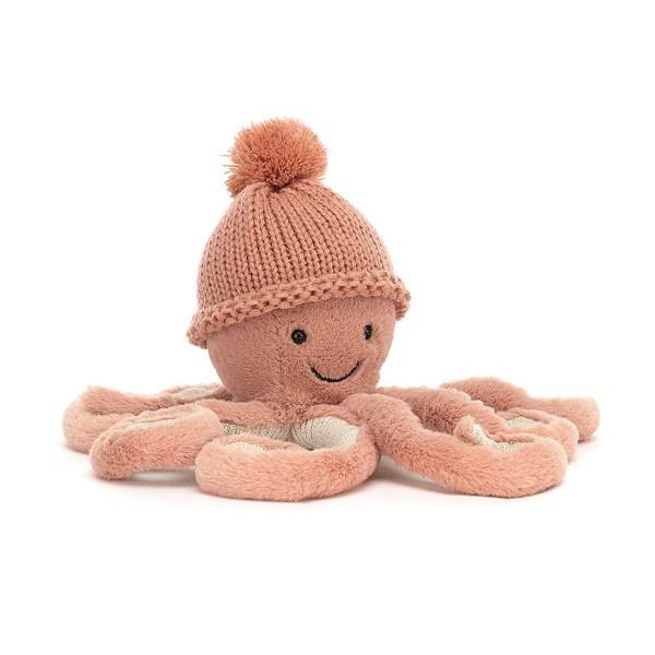 La peluche Pieuvre Cozi Octopus représente un poulpe tout doux parfait pour les enfants et les bébés dès la naissance. Ses tentacules délicates vont vous envelopper de plaisir.