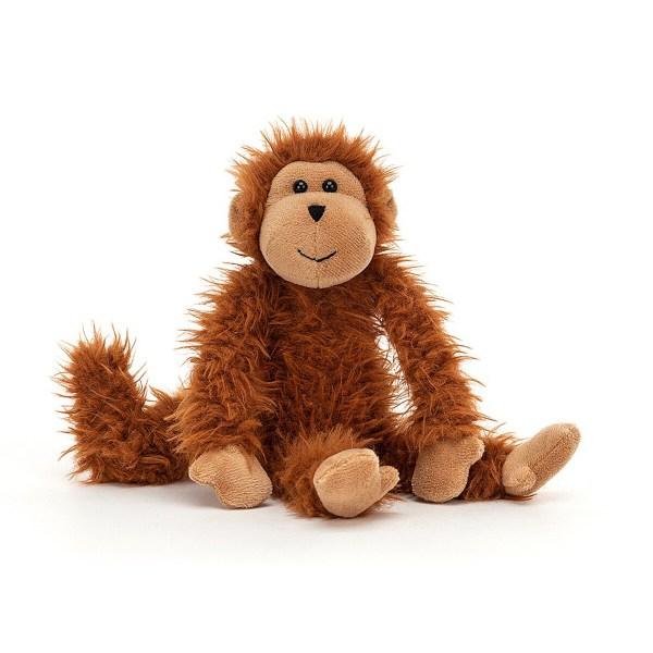 La peluche singe Bonbon Monkey est unepeluche rigolote en forme de singe parfaite pour les enfants et les bébés dès la naissance. Ses longs poils roux que des petits doigts adoreront caresser sont d'une grande douceur. Son visage et ses pattes sont en feutrine aussi douce qu'une peau de pèche !