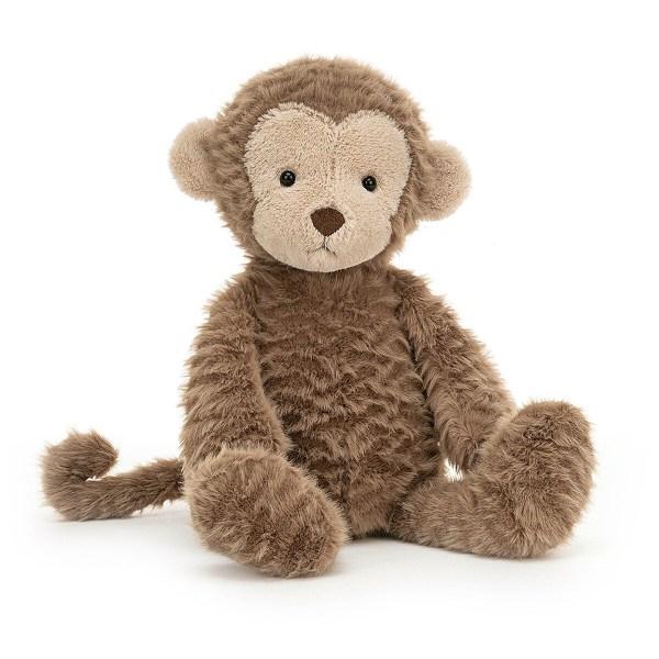 La peluche singe Rolie Polie Monkey est un adorable petit singe couleur chocolat très doux qui convient aux enfants dès la naissance. Son visage et le bout de ses pattes sont de couleur beige et de jolis yeux noirs illuminent son sourire.