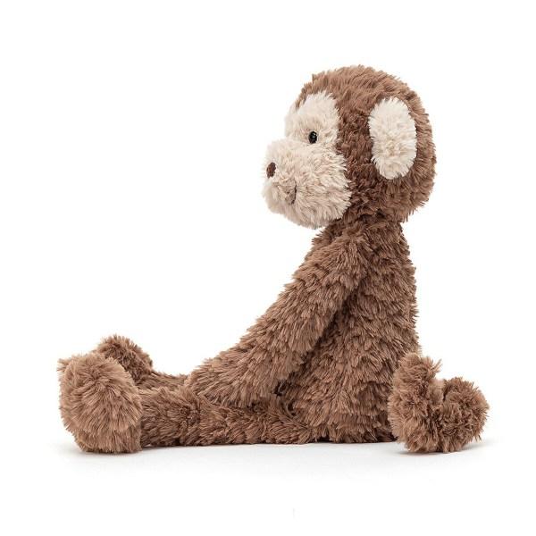Avec son air ébouriffé, Smuffle Monkey est vraiment trop craquant ! Dans sa belle robe couleur chocolat, ce singe malicieux est prêt à jouer pendant des heures et son visage et ses oreilles marron crème sont une invitation aux câlins.