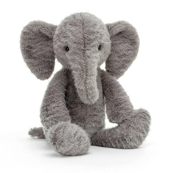 La peluche éléphant Rolie Polie est un adorable éléphant très doux qui convient aux enfants dès la naissance. Il a une jolie fourrure grise toute douce et Bébé adorera manipuler ses longues pattes et sa grande trompe.