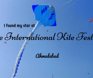 I found my star at the International Kite Festival, Ahmedabad