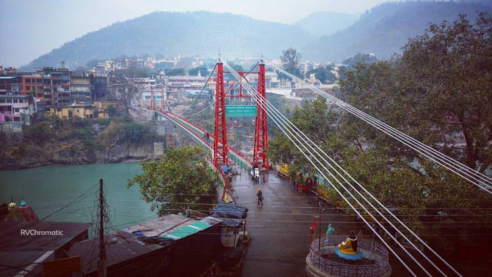 Rishikesh on a rainy day