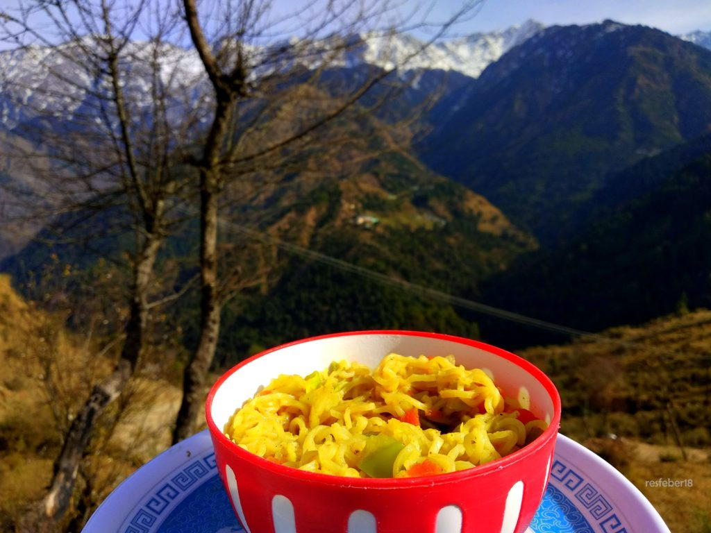 Maggi at Naddi view point