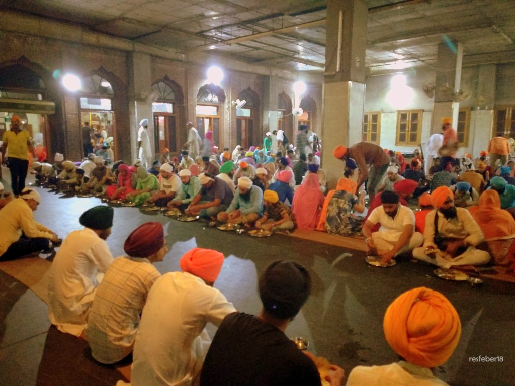 Inside the Langar at Golden Temple