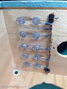 Le câble de masse une fois étamé