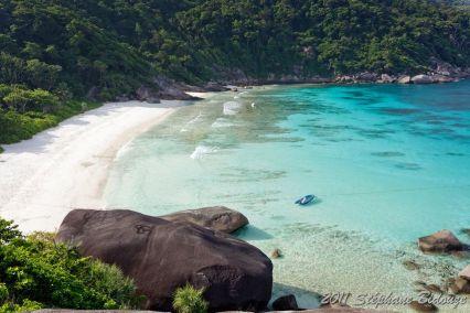tropical beach bay