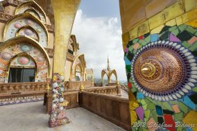 colorful buddhist temple