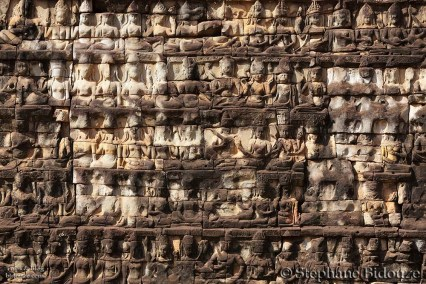 Carved temple wall