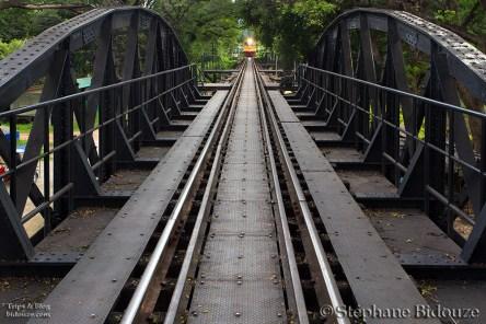 Kanchanaburi, The bridge over the river Kwai and the Tham Khao Noi temple