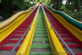 L'escalier menant au temple
