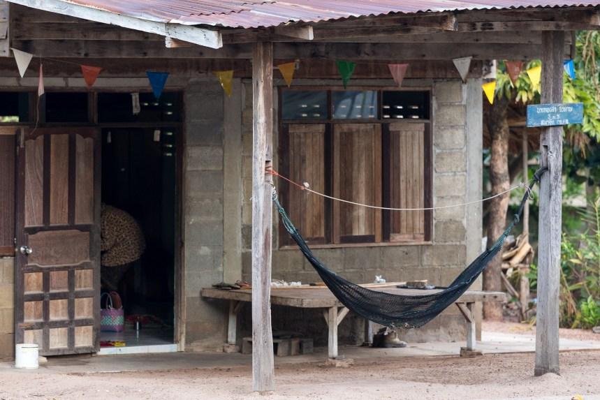 A thai wooden house