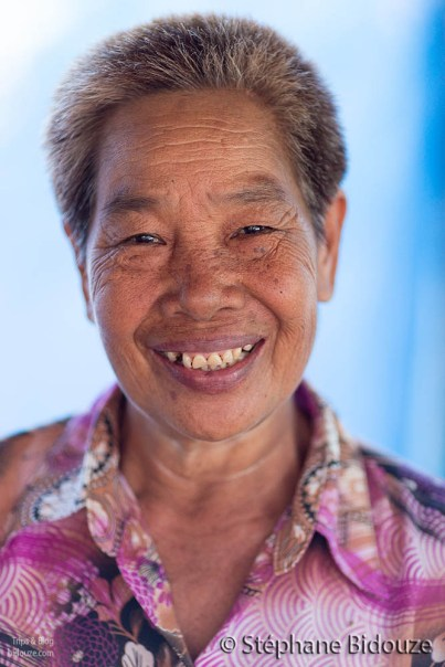 Thai silkworm farmer