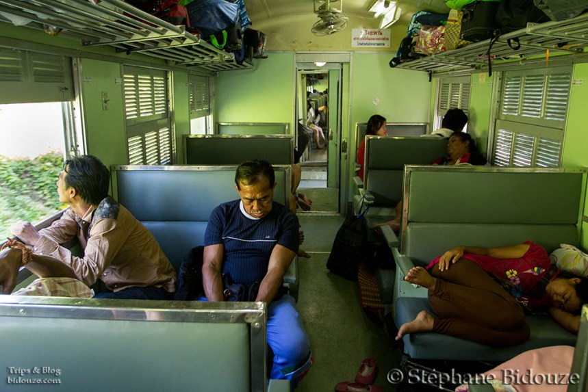 Train indoors, in Thailand