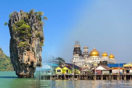 La baie de Phang Nga et le village flottant de Koh Panyi