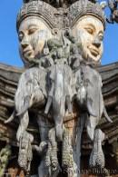 elephant-sanctuaire-verite-pattaya-bois-sculpture