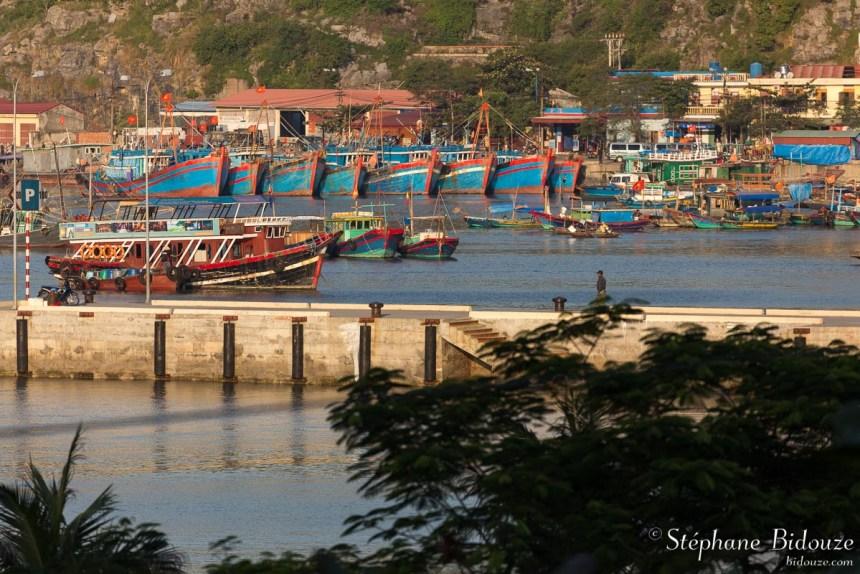 port-bateaux-cat-ba-ile-vietnam