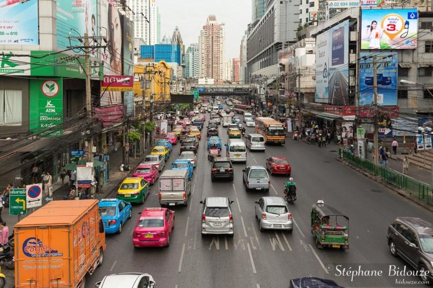 Phetchaburi road dans le disrict de Ratchathewi
