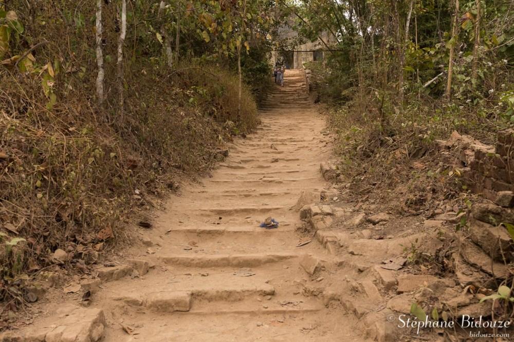 Chemin vers le temple