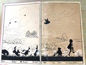 "Photo of pages from a first edition of 1928's ""The House on Pooh Corner."""