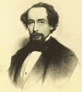 Sketch of Charles Dickens.