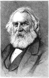 Portrait of Henry Wadsworth Longfellow.