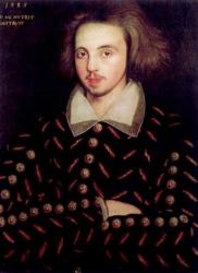Portrait of Christopher Marlowe.