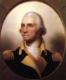Portrait of George Washington.