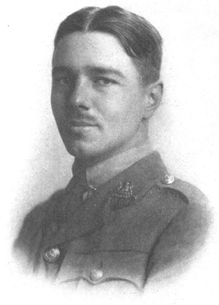 Engraving of Wilfred Owen.