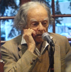 Photo of poet Daniel Hoffman.