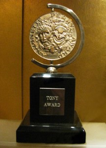 Photo of a Tony Award.