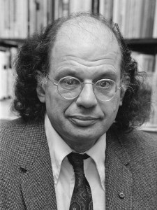 Photo of Allen Ginsberg.