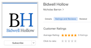 Screenshot showing Bidwell Hollow's page on iTunes.