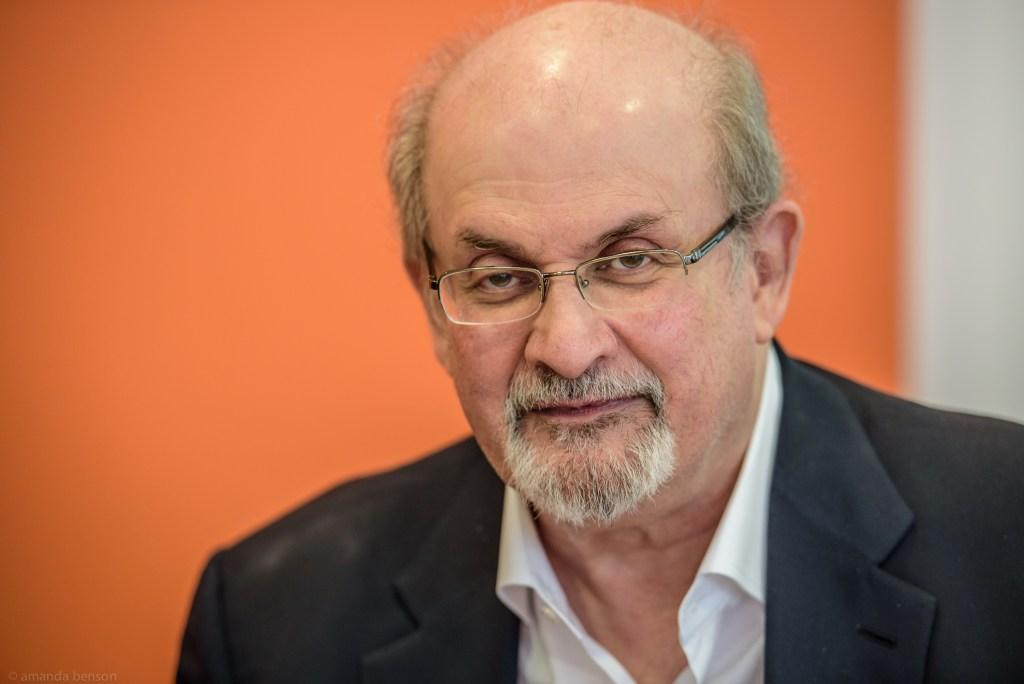 Photo of Salman Rushdie.