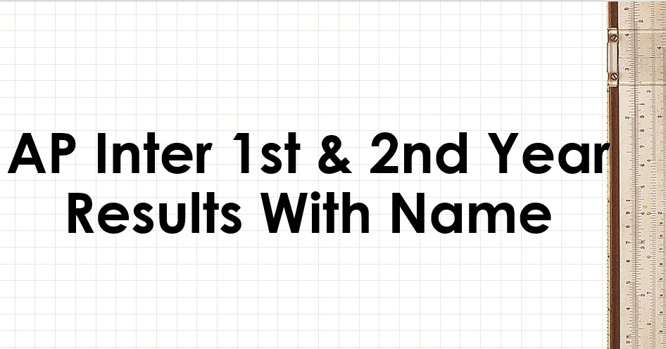 AP Inter Results With Name