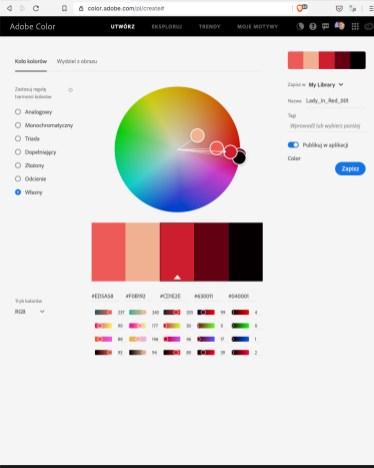 Kolory zezdjęcia 1 nakole kolorów