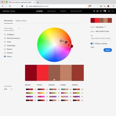 Kolor nazdjęciu iharmonia kolorystyczna