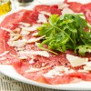 Lunch of brunch met carpaccio