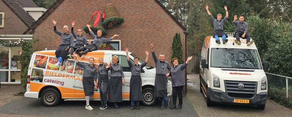 Team van Bielderman Catering Deventer