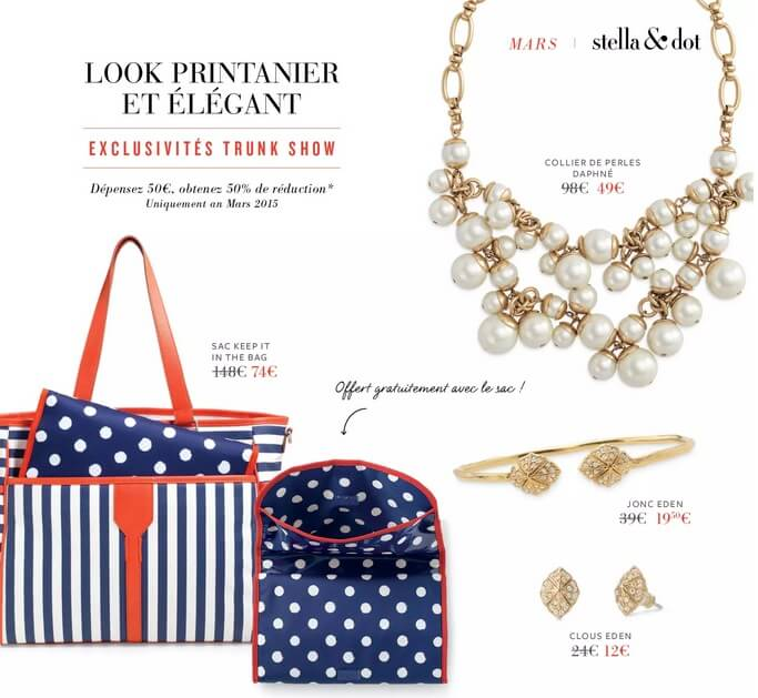offre Trunk Show mars