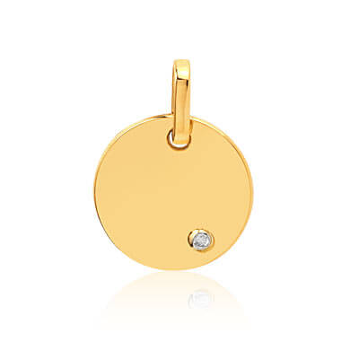 medaille-or-750-jaune-diamant-wishlist