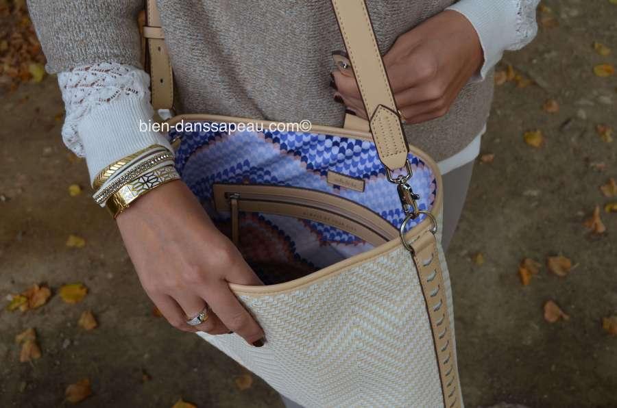 look-monochrome-beige-automne-sac-crosby-chevrons-tisses-stella-dot