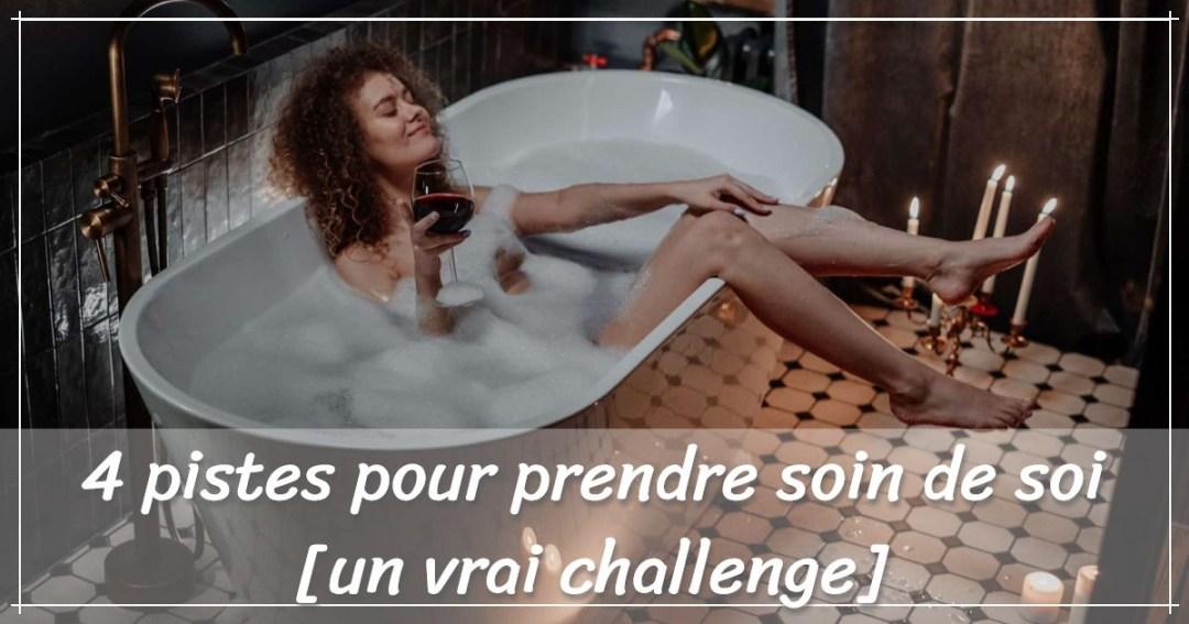visuel prendre soin de soi dans sa baignoire