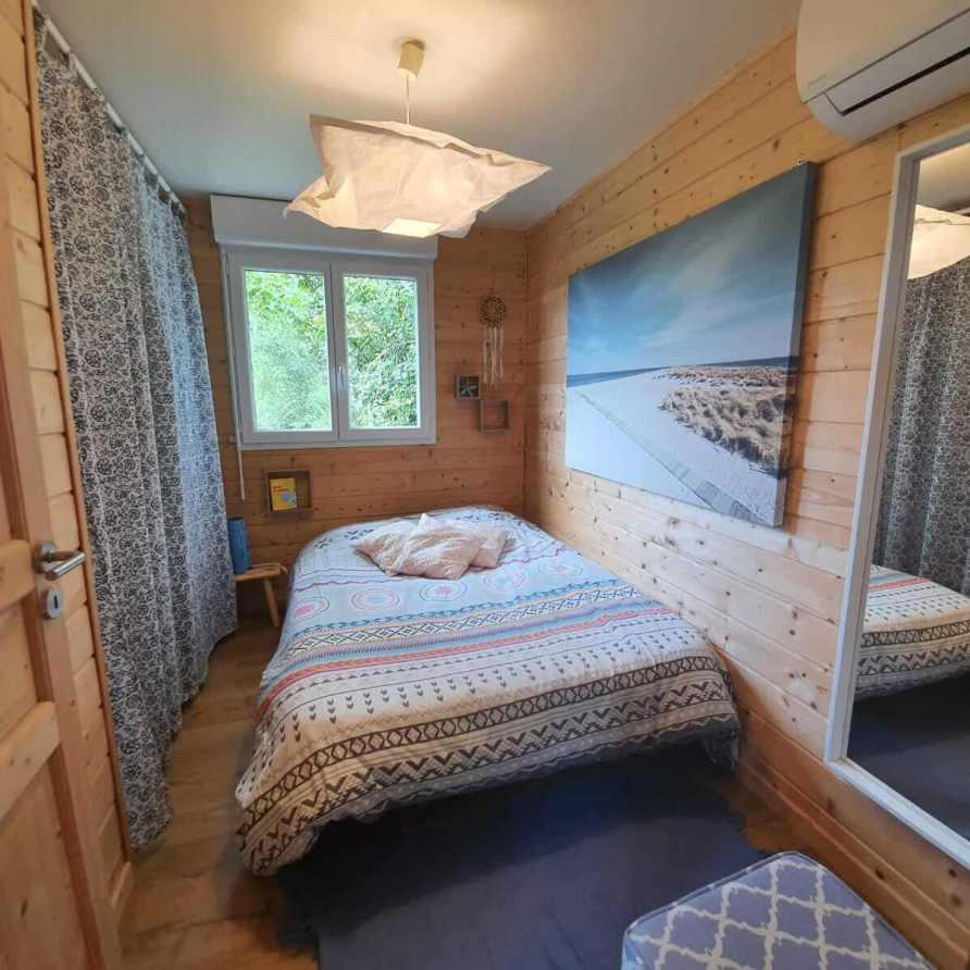 Chambre lit double du chalet