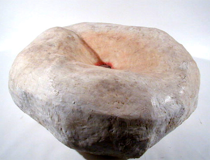 Rute Rosas (PT) 1997 ANKE, DIRCK, CLARA... Escultura Ferro Gesso, Perafina, Fotografia, Vidro 100x120x120 cm