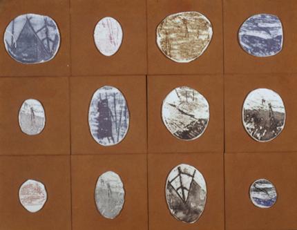 Dacos 1998 S/ TÍTULO Porcelana e Vidrados 51 x 68 cm