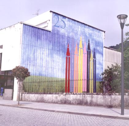 Acácio de Carvalho 2003 MURAL COMEMORATIVO DOS 25 ANOS DA BIENAL Pintura Manual Exterior 2000 x 1500 cm